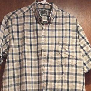 DAVID TAYLOR mens button up shirt size L